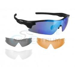 Okuliare športové s vymeniteľnými sklami, matný čierny rám