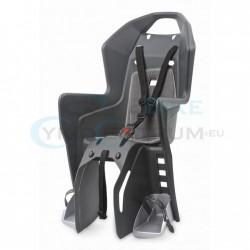 detská sedačka zadná Polisport Koolah, uchytenie na nosič, tmavo sivo-strieborná