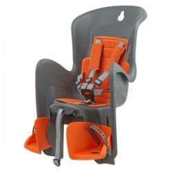 detská sedačka zadná Polisport Bilby, upevnenie na sedlovú trubku, šedo-oranžová