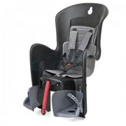 detská sedačka Polisport BILBY na nosič, čierno-sivá