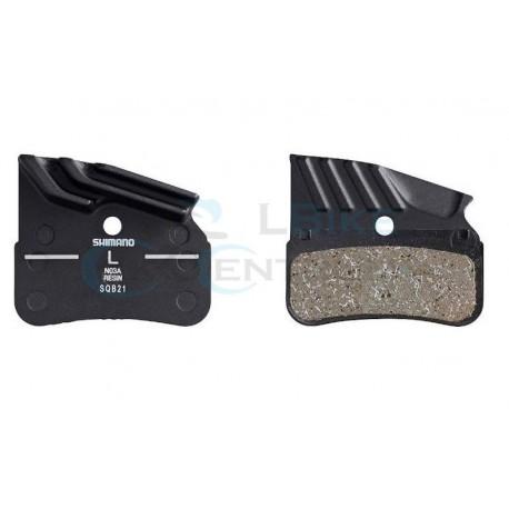 brzdové platničky s chladičom Shimano N04C, metalické