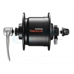 náboj s dynamom Shimano DHC3000 6V/3W 32.dier, čierny, na R.U.+ ochrana proti prepätiu SMDH10