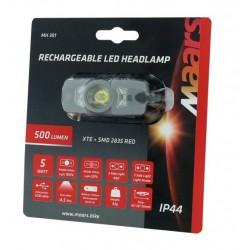predné svetlo čelovka Maars, 500 Lm., USB nabíjanie