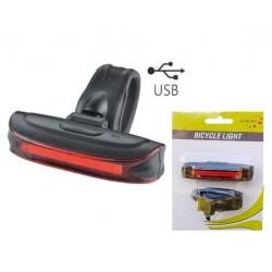 zadné svetlo MPB, 20 červených LED, 65 Lm, 3.funkcie, USB