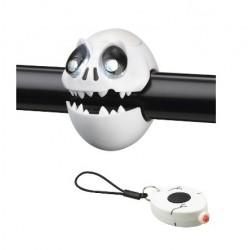 sada blikacích LED svetiel, Predné+Zadné Crazy, lebka, 2+1 LED, 2.funkcie