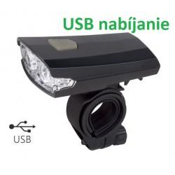 predné svetlo MPB, 2 LED, USB nabíjanie + USB kábel