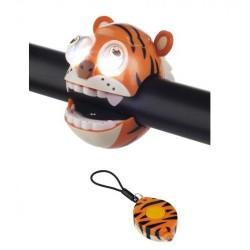 sada blikačiek Predná+Zadná, Crazy tiger, 2+1 LED, 2.funkcie, na blistri