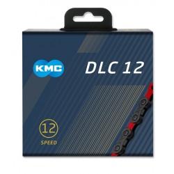 Reťaz KMC DLC 12 čierno-červená, 12.kolo