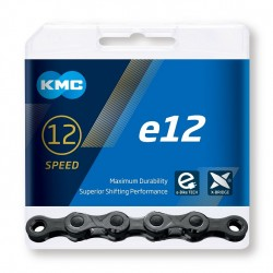 Reťaz KMC e12 BlackTech pre elektrobicykle, 12.kolo