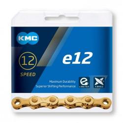Reťaz KMC e12 Ti-N Gold pre elektrobicykle, 12.kolo