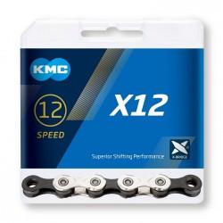 Reťaz KMC X12 , strieborno-čierna, 12.kolo