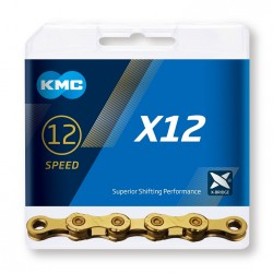 Reťaz KMC X12 Ti-N Gold, 12.kolo