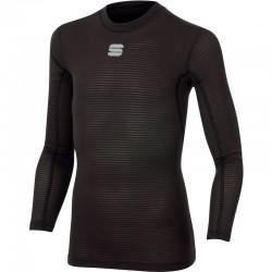 detské tričko Sportful TD MID s dlhým rukávom, čierne