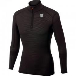 pánske tričko Sportful TD MID top so zipsom a dlhým rukávom, čierny