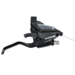 radiaca a brzdová páka Shimano ST-EF500-7.kolo, pravá, čierna