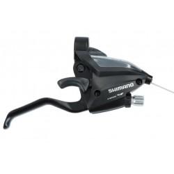 radiaca a brzdová páka Shimano ST-EF500-8.kolo, pravá, čierna