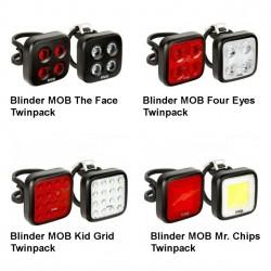 predné a zadné svetlo Knog Blinder MOB Twinpack, sada