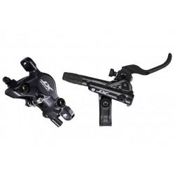 zadná hydraulická brzda Shimano XT M8100, čierna, Post Mount, 1700mm, hadica+platničky J04C