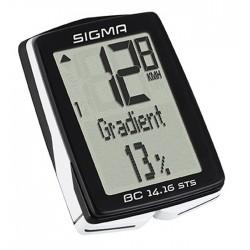 počítač SIGMA BC 14.16 STS CAD, 14.funkcií, bezdrôtový, čierny