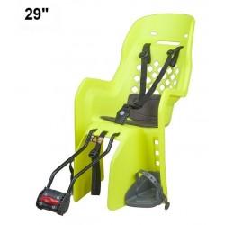 detská sedačka zadná Polisport JOY 29 na sedlovú trubku, fluorescentná