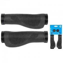 Rukoväte M-Wave Ergogel, 2 x skrutkovacia, 130 mm, čierna