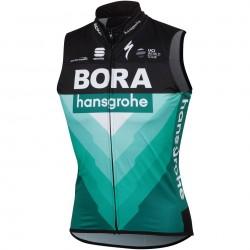 vesta Sportful BodyFIT PRO WIND BORA-HANSGROHE, čierna-BORA zelená