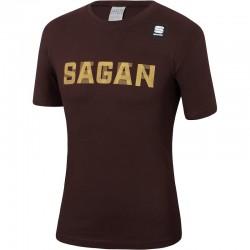 tričko s krátkym rukávom Sagan Line - Sportful PETER SAGAN, hnedé