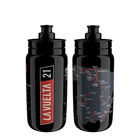 fľaša Elite FLY, mapa VUELTA 2021, čierna, 550ml