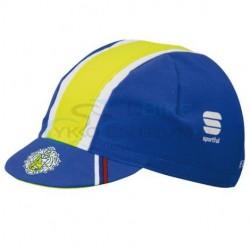 cyklo ciapka pod prilbu Tinkoff Saxo modrá