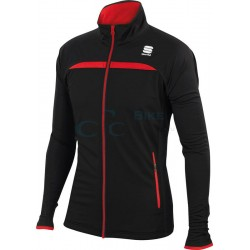 bunda Sportful Engadin wind - čierno / červená