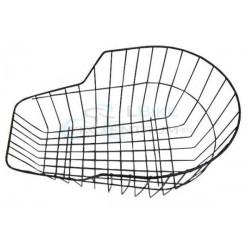 Košík zadný oceľový na nosič, okrúhly, čierny