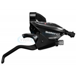 radiaca a brzdová páka Shimano ST-EF510, 7.kolo, pravá, čierna, na objímku