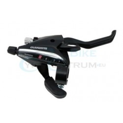 radiaca a brzdová páka Shimano ST-EF65, 7.kolo, pravá, čierna, na objímku