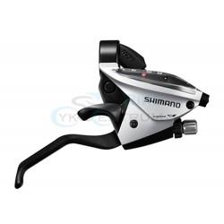 radiaca a brzdová páka Shimano ST-EF510, 8.kolo, strieborná, pravá, na objímku