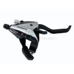 radiaca a brzdová páka Shimano ST-EF65, 8.kolo, strieborná, pravá, na objímku
